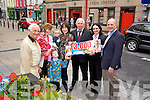 Liz Keane from Glauntane, Cordal winner of the €3000 Tralee Credit Union and Kerry's Eye competition on Tuesday. Pictured Tom Lawlor, Chairperson, Tralee Credit Union, Bernie Keane, Niamh Keane, Mark Keane, Jack Keane, Liz Keane, Fintan Ryan, Suzanne Ennis,  Tralee Credit Union, Brendan Kennelly, Kerry's Eye.