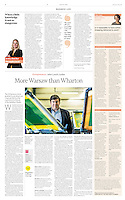 Financial Times (British economic daily) on entrepreneurs in Polish economy, Warsaw, May 2016.<br /> Photographer: Joanna Nowicka