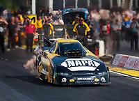 May 3, 2019; Commerce, GA, USA; NHRA funny car driver Ron Capps during qualifying for the Southern Nationals at Atlanta Dragway. Mandatory Credit: Mark J. Rebilas-USA TODAY Sports