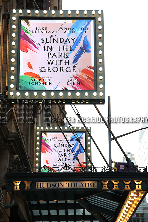 'Sunday in the Park with George'  starring Jake Gyllenhaal and Annaleigh Ashford  Theatre Marquee unveiling at the Hudson Theatre on January 27, 2017 in New York City.