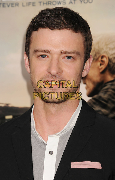 "Justin Timberlake.""Trouble With The Curve"" Los Angeles Premiere held at the Regency Village Theatre, Westwood, California, USA..September 19th, 2012.headshot portrait black grey gray white stubble facial hair .CAP/ROT/TM.©Tony Michaels/Roth Stock/Capital Pictures"
