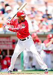 15 June 2006: Damian Jackson, outfielder for the Washington Nationals, at bat against the Colorado Rockies at RFK Stadium, in Washington, DC. The Rockies defeated the Nationals, 8-1 to sweep the four-game series...Mandatory Photo Credit: Ed Wolfstein Photo...