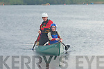 Water Sport: Dara O'Cinneide, Tralee (right) gets canoe lessons from Nathan Kingerlee at Ross Castle on Friday.