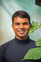 Maldives, Fenfushi Island, Conrad Hilton dive instructor.
