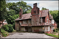 BNPS.co.uk (01202 558833)<br /> Pic: SteppingStones/BNPS<br /> <br /> Before the restoration the house was falling apart.<br /> <br /> Much like his famous fictional detective, Sir Arthur Conan Doyle's former home has been brought back from the dead.<br /> <br /> Undershaw, the home the author helped design, fell into disrepair after the hotel which ran there for 80 years closed in 2004 but in a resurrection worthy of Sherlock Holmes himself the derelict landmark has been restored to its former glory.<br /> <br /> The building is now part of Stepping Stones, a special needs school in Hindhead, Surrey, and has been nominated for a heritage award.