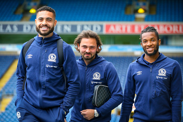 Blackburn Rovers' Derrick Williams, Bradley Dack<br />  and Kasey Palmer arrive Ewood Park<br /> <br /> Photographer Alex Dodd/CameraSport<br /> <br /> The EFL Sky Bet Championship - Blackburn Rovers v Queens Park Rangers - Saturday 3rd November 2018 - Ewood Park - Blackburn<br /> <br /> World Copyright © 2018 CameraSport. All rights reserved. 43 Linden Ave. Countesthorpe. Leicester. England. LE8 5PG - Tel: +44 (0) 116 277 4147 - admin@camerasport.com - www.camerasport.com