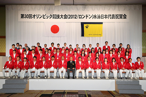 Swimming Japan National Team Group (JPN), .September 27, 2012 - Swimming : .Celebration party of London Olympic Japan National Team .in Tokyo, Japan. .(Photo by Daiju Kitamura/AFLO SPORT)