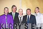 Night out.Attending the Kingdom boys/Dynamos soccer club social in the Brandon hotel Tralee last Friday night were l-R Jonathon Burrows,John Delaney CEO FAI,Darren Crotty,Ray Houghton and Wayne Conway.