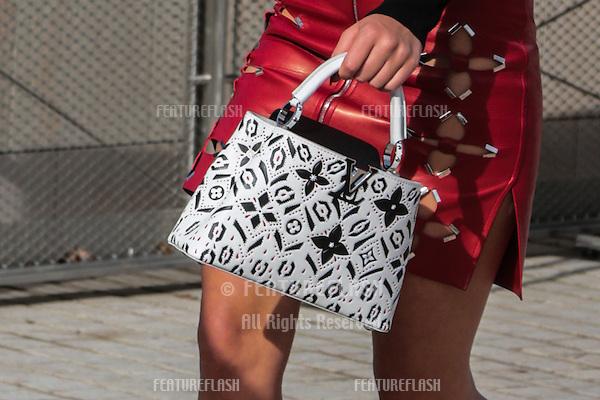 Adele Exarchopoulos attend Louis Vuitton Show Front Row - Paris Fashion Week  2016.<br /> October 7, 2015 Paris, France<br /> Picture: Kristina Afanasyeva / Featureflash