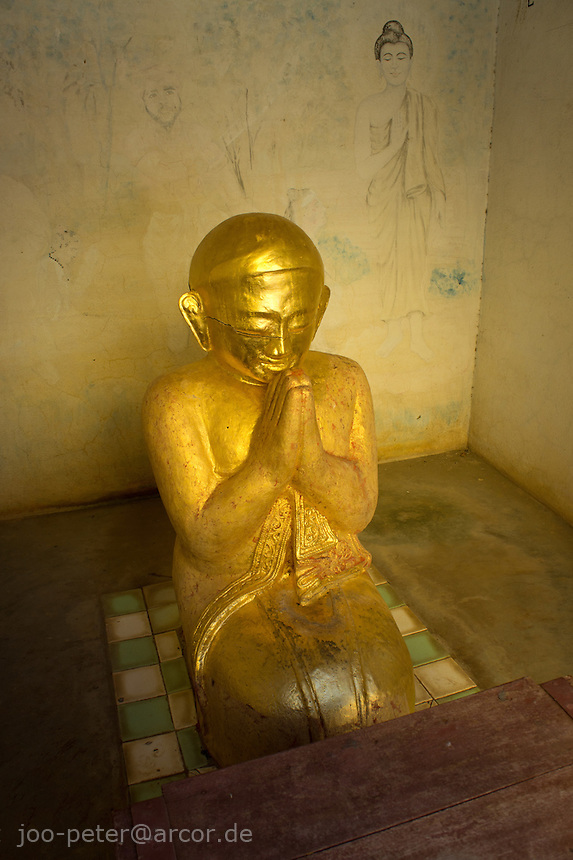 spirit sculpture in Shwezigon Pagoda, village Niaung U, Bagan archeological site, Myanmar