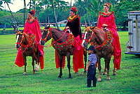 The Merrie Monarch festival and the pau riders.