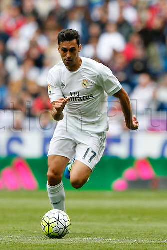 09.04.2016. Madrid, Spain.  Alvaro Arbeloa Coca (17) Real Madrid. La Liga match between Real Madrid and SD Eibar at the Santiago Bernabeu stadium in Madrid, Spain.