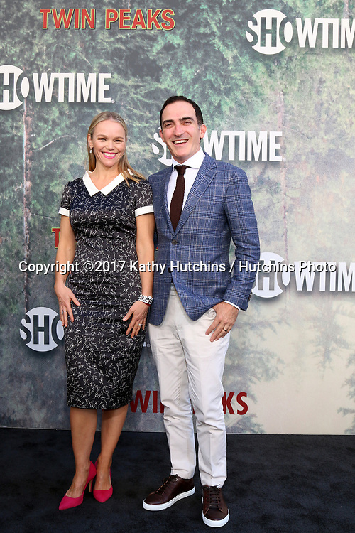 "LOS ANGELES - MAY 19:  Lauren Bowles, Patrick Fischler at the ""Twin Peaks"" Premiere Screening at The Theater at Ace Hotel on May 19, 2017 in Los Angeles, CA"