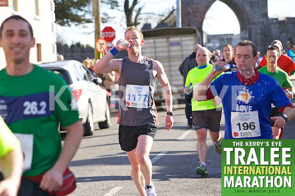 1177 Trevor Dunne 0196 Brendan Fitzgerald who took part in the Kerry's Eye, Tralee International Marathon on Saturday March 16th 2013.
