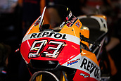 June 10th 2017,  Barcelona Circuit, Montmelo, Catalunya, Spain; MotoGP Grand Prix of Catalunya, qualifying day; Marc Marquez motorbike of Repsol Honda Team before the Qualifying session