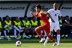 Wu Lei of China (L) runs past Edgar Bernhardt of Kyrgyz Republic (R) during the AFC Asian Cup UAE 2019 Group C match between China (CHN) and Kyrgyz Republic (KGZ) at Khalifa Bin Zayed Stadium on 07 January 2019 in Al Ain, United Arab Emirates. Photo by Marcio Rodrigo Machado / Power Sport Images