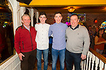 Pictured in Mick's Local Bar, Abbeyfeale on Saturday night for the double 18th of Killian and Ronin Sweeney. Pictured L-R: Patsie, Ronan, Killian and Liam Sweeney, Abbeyfeale, three generations of the one family.