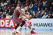 9th February 2018, Aleksandar Nikolic Hall, Belgrade, Serbia; Euroleague Basketball, Crvenz Zvezda mts Belgrade versus AX Armani Exchange Olimpia Milan; Center Stefan Jankovic of Crvena Zvezda mts Belgrade in action