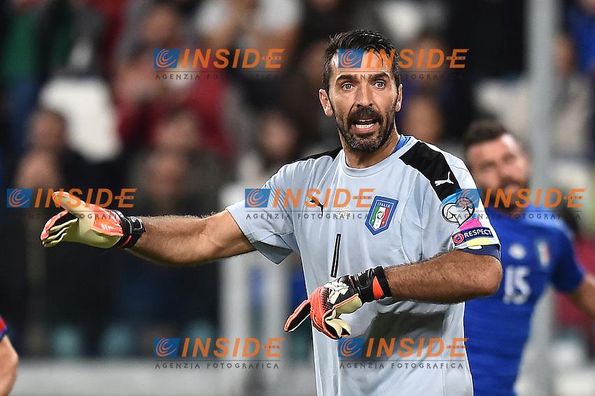 Gianluigi Buffon Italia <br /> Torino 06-10-2016 Juventus Stadium <br /> World Cup Qualifiers Italy - Spain / Italia - Spagna. Foto Andrea Staccioli / Insidefoto
