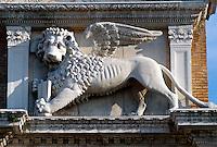 Eingang zum Arsenal, Venedig, Italien, Unesco-Weltkulturerbe