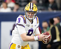 ATLANTA, GA - DECEMBER 7: Joe Burrow #9 of the LSU Tigers during a game between Georgia Bulldogs and LSU Tigers at Mercedes Benz Stadium on December 7, 2019 in Atlanta, Georgia.