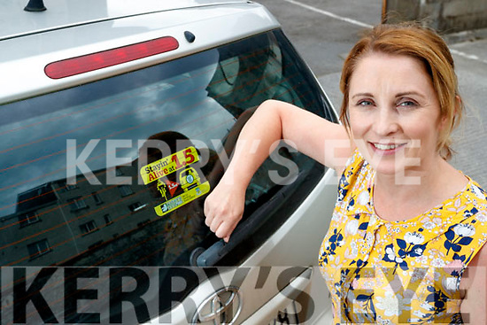 Caitriona Leen with the Kerry's Eye Road safety car sticker.
