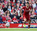 Liverpool's Dominic Solanke in action during the premier league match at the Anfield Stadium, Liverpool. Picture date 19th August 2017. Picture credit should read: David Klein/Sportimage
