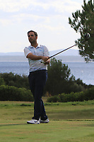 Nicolas Loprete (ESP) on the 12th tee during the Pro-Am of the Challenge Tour Grand Final 2019 at Club de Golf Alcanada, Port d'Alcúdia, Mallorca, Spain on Wednesday 6th November 2019.<br /> Picture:  Thos Caffrey / Golffile<br /> <br /> All photo usage must carry mandatory copyright credit (© Golffile | Thos Caffrey)