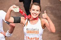 Charlie Webster<br /> at the finish of the London Marathon 2019, Greenwich, London<br /> <br /> ©Ash Knotek  D3496  28/04/2019