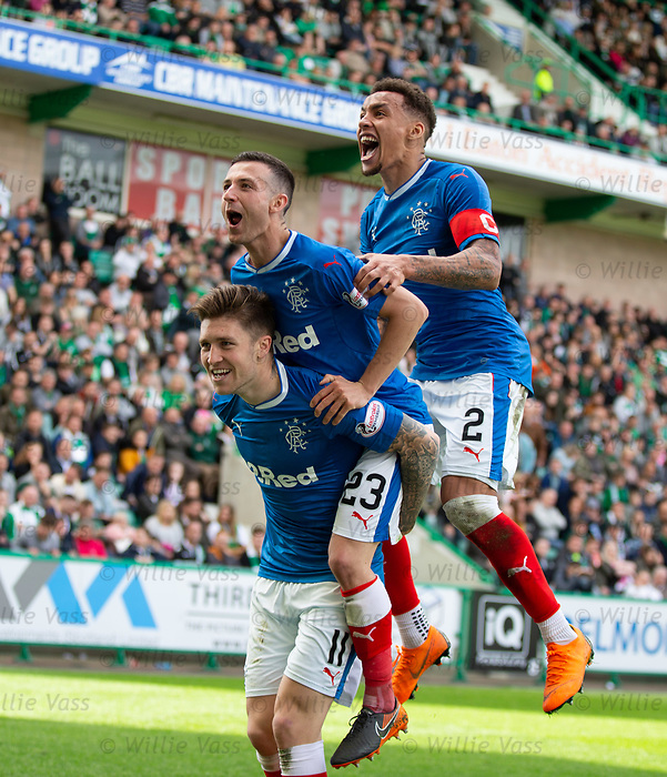 13.05.2018 Hibs v Rangers: Josh Windass celebrates