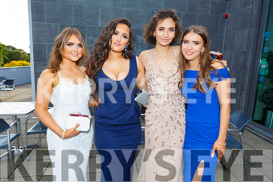 Shauna O'Shea (Killorglin), Jade Brosnan (Killarney), Olivia Arendarska (Killarney) and Karolina Flap (Killarney) attending the Killarney Community College, St. Brendan's and St. Bridget's School debs in the Ballyroe Heights Hotel on Monday night.