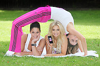16/9/2010. 3 Launch.Pictured at the Dylan Hotel Dublin to mark the launch of the new Flex price plans for the Samsung Galaxy, Xpose star Glenda Gilson,Sara Kavanagh and Ruth Griffin take up some flexible poses. Picture James Horan/Collins