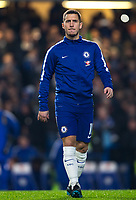 Eden Hazard of Chelsea ahead of the Carabao Cup semi final 1st leg match between Chelsea and Arsenal at Stamford Bridge, London, England on 10 January 2018. Photo by Andy Rowland.