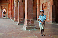 Fatehpur Sikri is a town in the Agra District of Uttar Pradesh, India. The city itself was founded as the capital of Mughal Empire in 1571 by Emperor Akbar, serving this role from 1571 to 1585, when Akbar abandoned it due to a campaign in Punjab and was later completely abandoned in 1610.