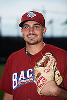 Lehigh Valley IronPigs pitcher Zach Eflin (16) poses for a photo before a game against the Columbus Clippers on May 12, 2016 at Huntington Park in Columbus, Ohio.  Lehigh Valley defeated Columbus 2-1.  (Mike Janes/Four Seam Images)
