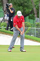 Jon Rahm (ESP) reacts to barely missing his birdie putt on 15 during round 4 of the Dean &amp; Deluca Invitational, at The Colonial, Ft. Worth, Texas, USA. 5/28/2017.<br /> Picture: Golffile | Ken Murray<br /> <br /> <br /> All photo usage must carry mandatory copyright credit (&copy; Golffile | Ken Murray)