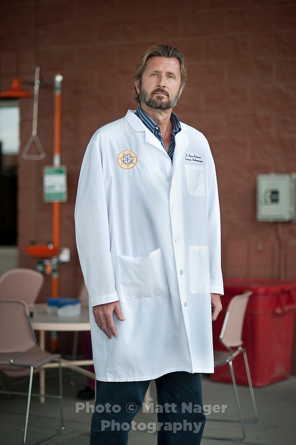 Forensics Scientist Dr. Bruce Anderson at the Pima County Medical Examiners office in Tucson, Arizona, Tuesday, April 20, 2010. Dr. Anderson has been working for years matching DNA from unidentified bodies found the desert with missing persons reports...PHOTO/ MATT NAGER