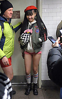 www.acepixs.com<br /> <br /> January 7 2018, New York City<br /> <br /> Participants at the annual 'No Pants Subway Ride' in Midtown Manhattan on January 7 2018 in New York City<br /> <br /> By Line: Curtis Means/ACE Pictures<br /> <br /> <br /> ACE Pictures Inc<br /> Tel: 6467670430<br /> Email: info@acepixs.com<br /> www.acepixs.com