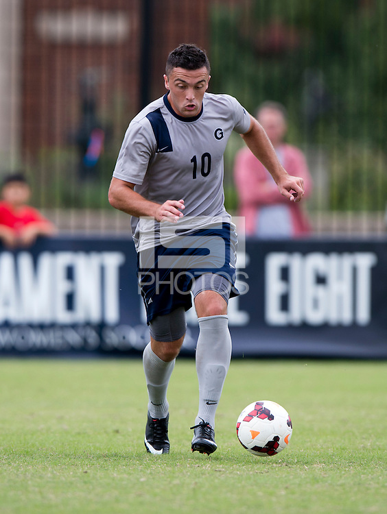 Brandon Allen (10) of Georgetown brings the ball forward during the game at Shaw Field on the campus of the Georgetown University in Washington, DC.  Georgetown tied Creighton, 0-0, in double overtime.