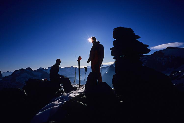 June ski touring on Giglistock, Uri, Switzerland, 2006