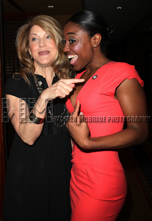 Victoria Clark & Patina Miller.attending the 65th Annual Tony Awards Meet The Nominees Press Reception at the Millennium Hotel in New York City.