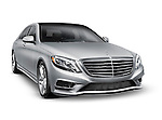 2014 Mercedes-Benz S550 S-class luxury sedan. Isolated car on white background with clipping path.