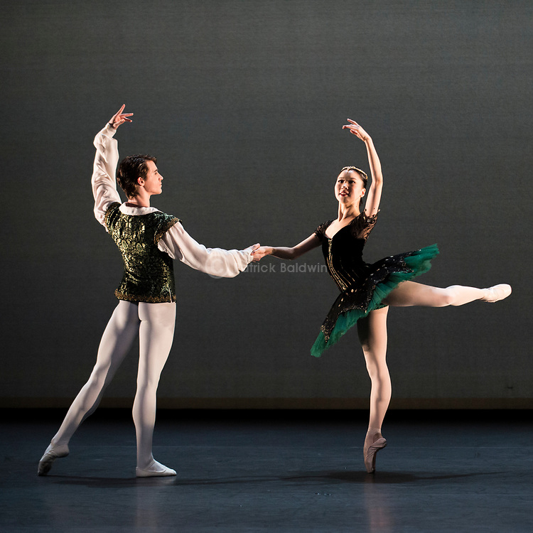 English National Ballet. Emerging Dancer competition. Rina Kanehara and Aitor Arrieta joint winners of the Emerging Dancer award 2017. Esmeralda pas de deux<br /> Choreography: Jules Perrot<br /> Music: Cesare Pugni<br /> Mentored by: Pedro Lapetra