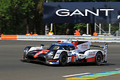 June 14 and 15th 2017,  Le Mans, France; Le man 24 hour race qualification sessions at the Circuit de la Sarthe, Le Mans, France;  #9 TOYOTA GAZOO RACING (JPN) TOYOTA TS050 HYBRID LMP1 NICOLAS LAPIERRE (FRA) JOSE MARIA LOPEZ (ARG) YUJI KUNIMOTO (JPN)