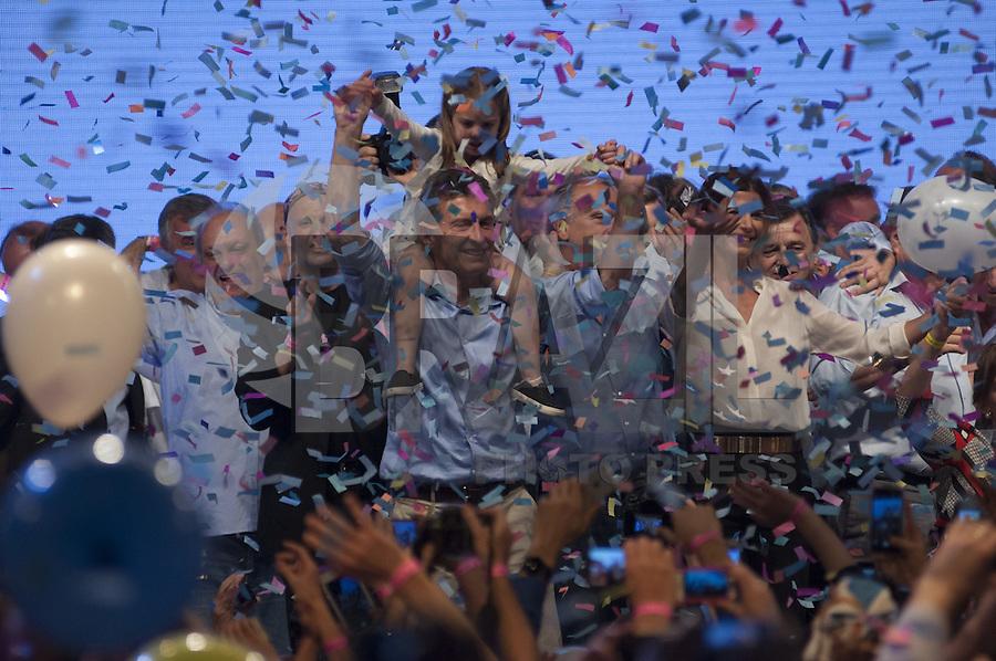 BUENOS AIRES, ARGENTINA, 22.11.2015 - ELEIÇÕES-ARGENTINA - Mauricio Macri eleito presidente da Argentina durante discurso após vitória em Buenos Aires na Argentina na noite deste domingo, 22. (Foto: María Pirsch / Brasil Foto Press)