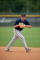 Atlanta Braves Griffin Benson (78) during practice before a Minor League Spring Training game against the New York Yankees on March 12, 2019 at New York Yankees Minor League Complex in Tampa, Florida.  (Mike Janes/Four Seam Images)