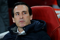 Arsenal Manager, Unai Emery during Arsenal vs Rennes, UEFA Europa League Football at the Emirates Stadium on 14th March 2019