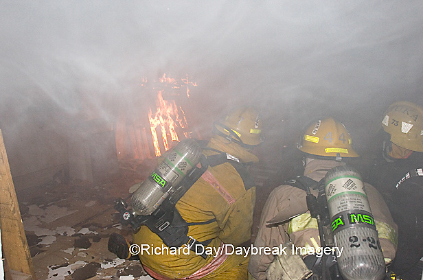 63818-019.11 Firefighters inside burning house, Marion Co. IL