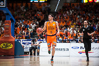 VALENCIA, SPAIN - June 11: Guillem Vives during SEMI FINAL ENDESA LEAGUE match between Valencia Basket Club and Real Madrid Basket at Fonteta Stadium on June 11, 2015 in Valencia, Spainç