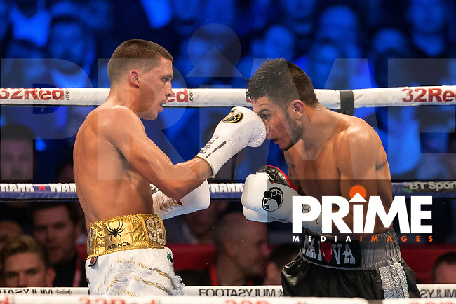 THE IBF WORLD FEATHERWEIGHT CHAMPIONSHIP 12 X 3 Minute Rounds LEE SELBY 8st 12lbs 12oz V EDUARDO RAMIREZ 9st 2lbs 8oz during the Boys are back in town - Frank Warren Boxing event at the Copper Box Arena, London, England on 9 December 2017. Photo by Andy Rowland.